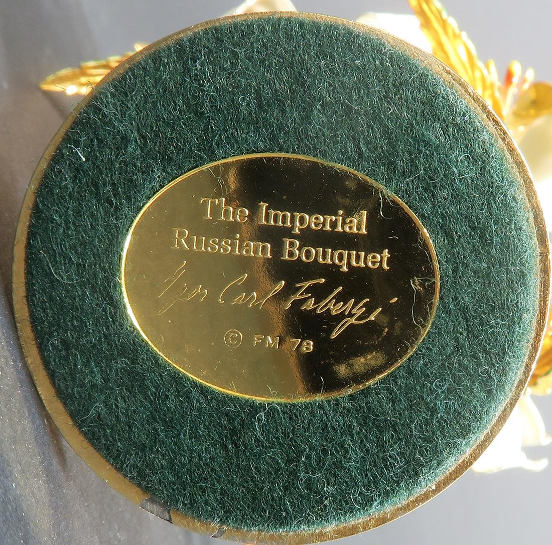 The Imperial Russian Bouquet Carl Faberge - 5