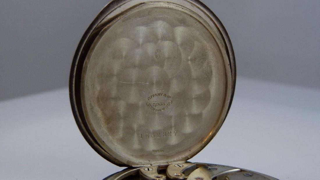 """Tiffany & Co"" Pocket Watch 935 Sterling Silver - 10"