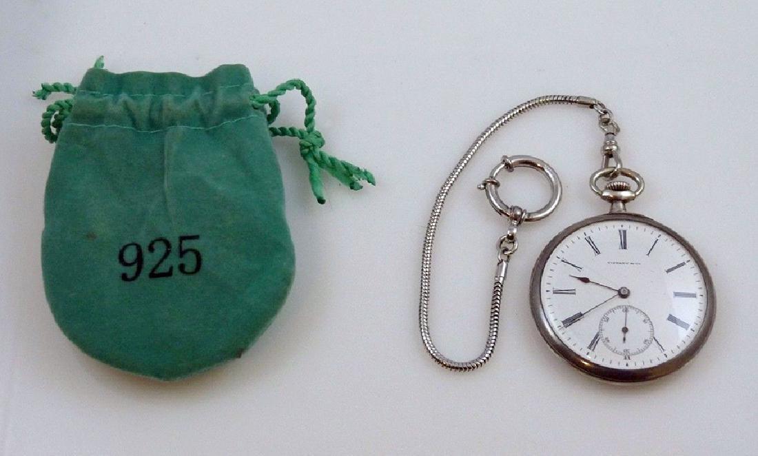 """Tiffany & Co"" Pocket Watch 935 Sterling Silver"
