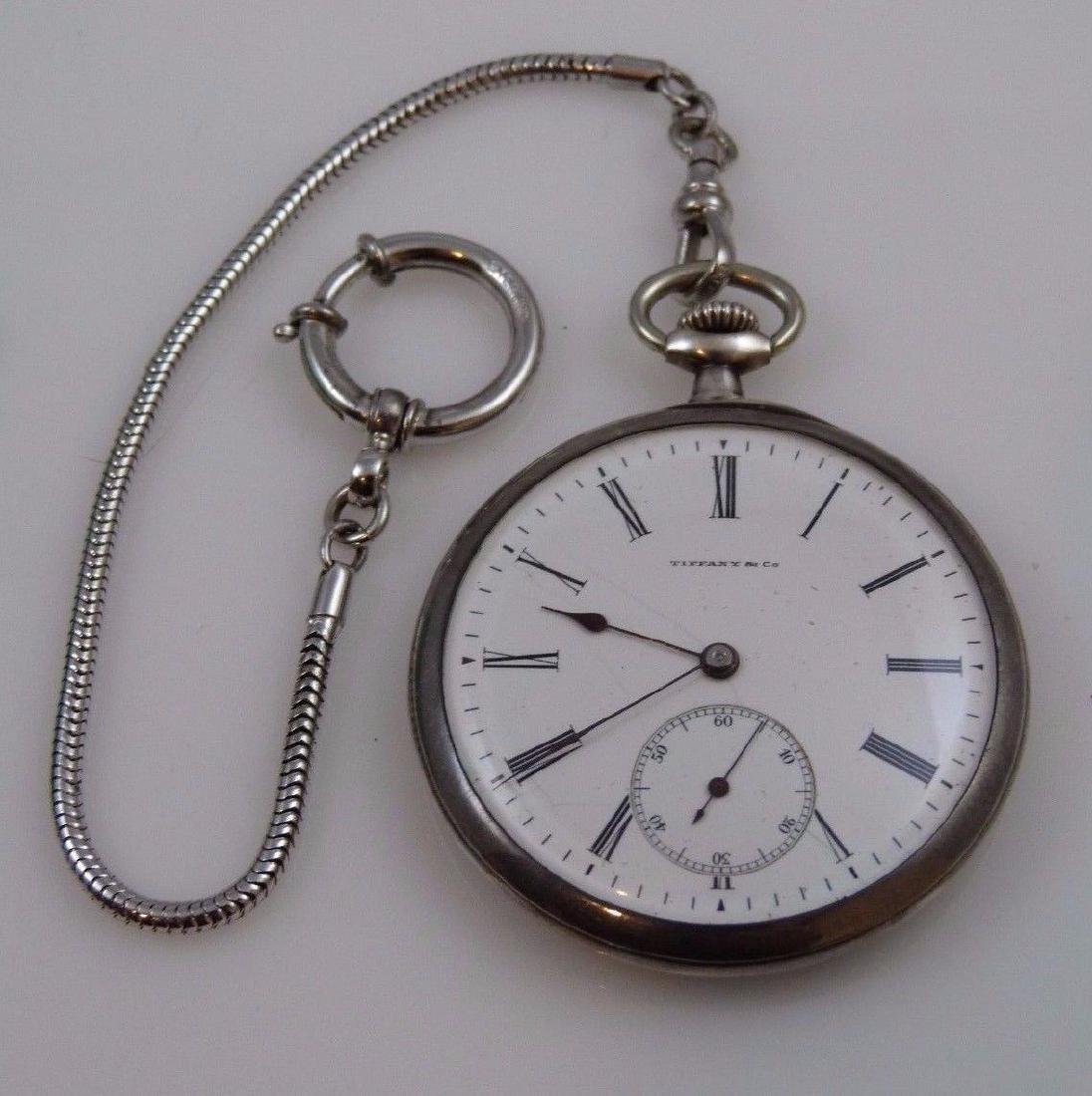 """Tiffany & Co"" Pocket Watch 935 Sterling Silver - 2"