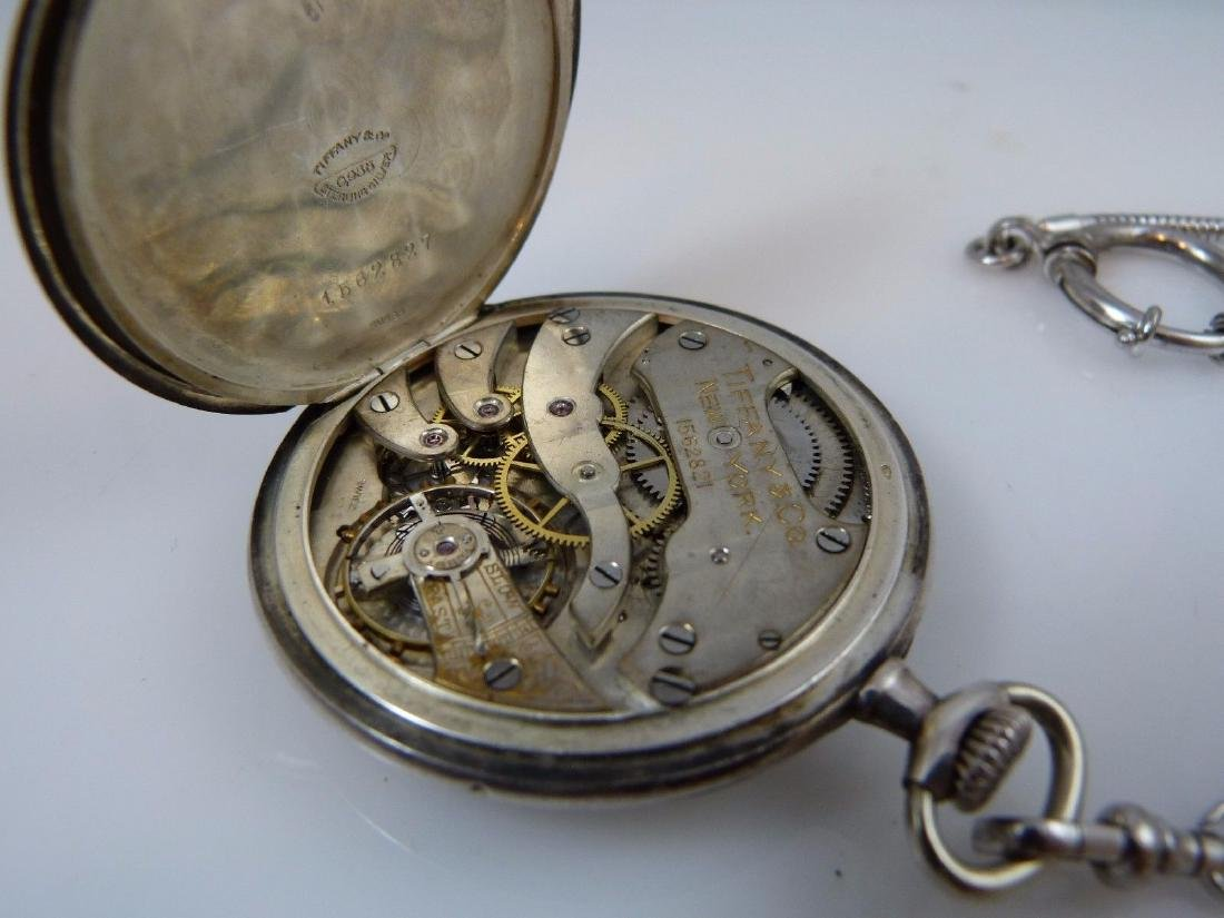 """Tiffany & Co"" Pocket Watch 935 Sterling Silver - 5"