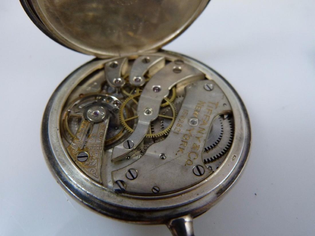 """Tiffany & Co"" Pocket Watch 935 Sterling Silver - 6"