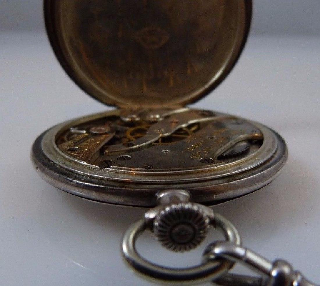"""Tiffany & Co"" Pocket Watch 935 Sterling Silver - 7"