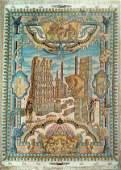 Persepolis Scene Persian Pictorial Rug from Tabriz