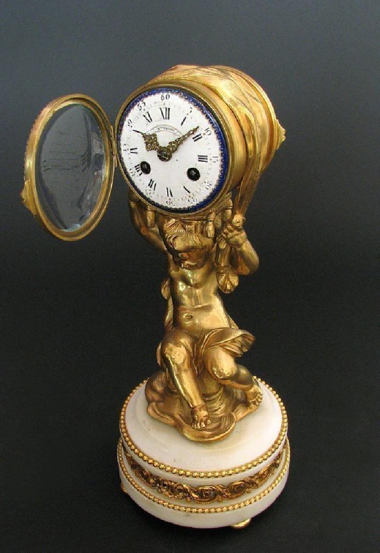 Magnificent Figural Table Clock Signed Henri Dasson - 2
