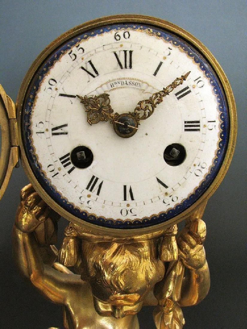Magnificent Figural Table Clock Signed Henri Dasson - 3