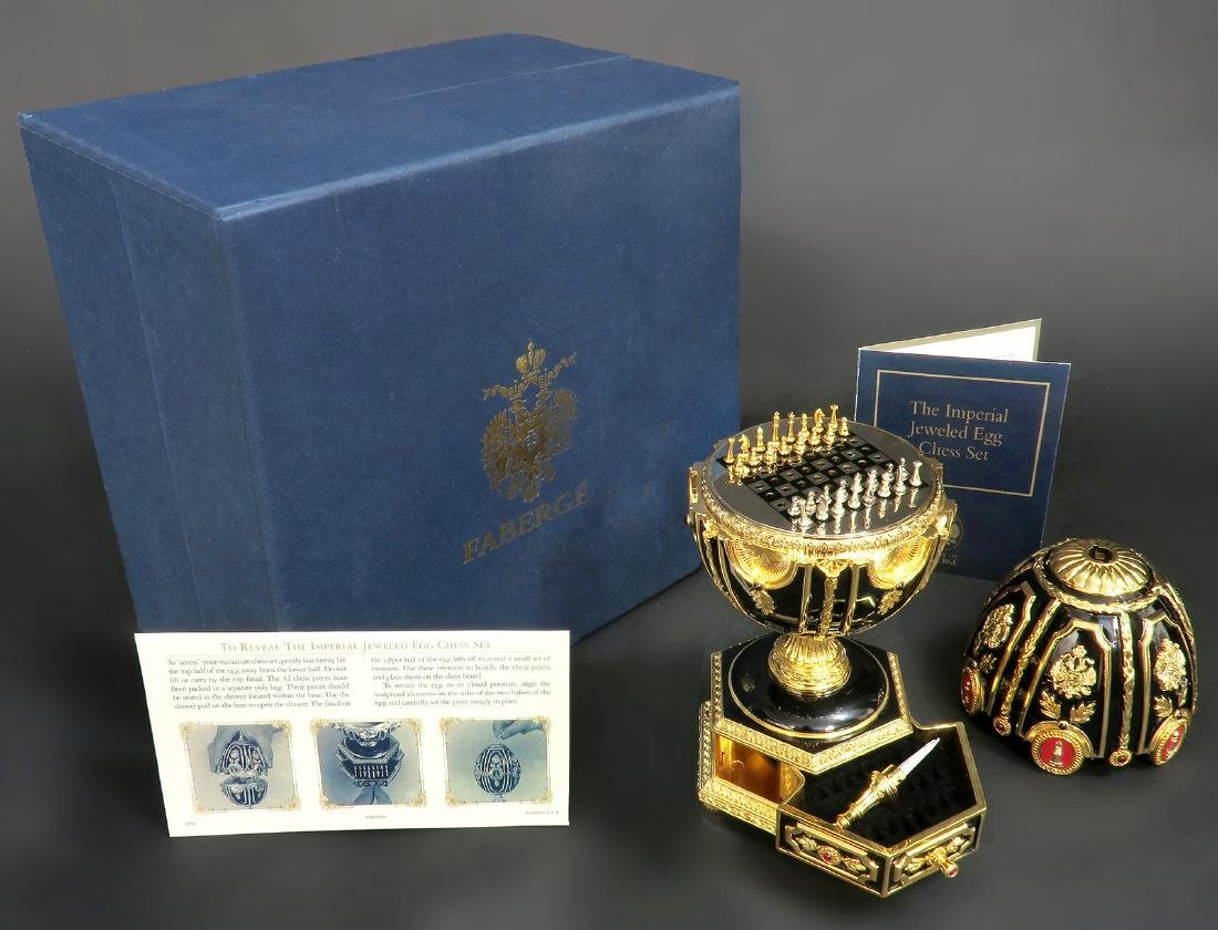 Faberge Imperial Jeweled Egg Chess set