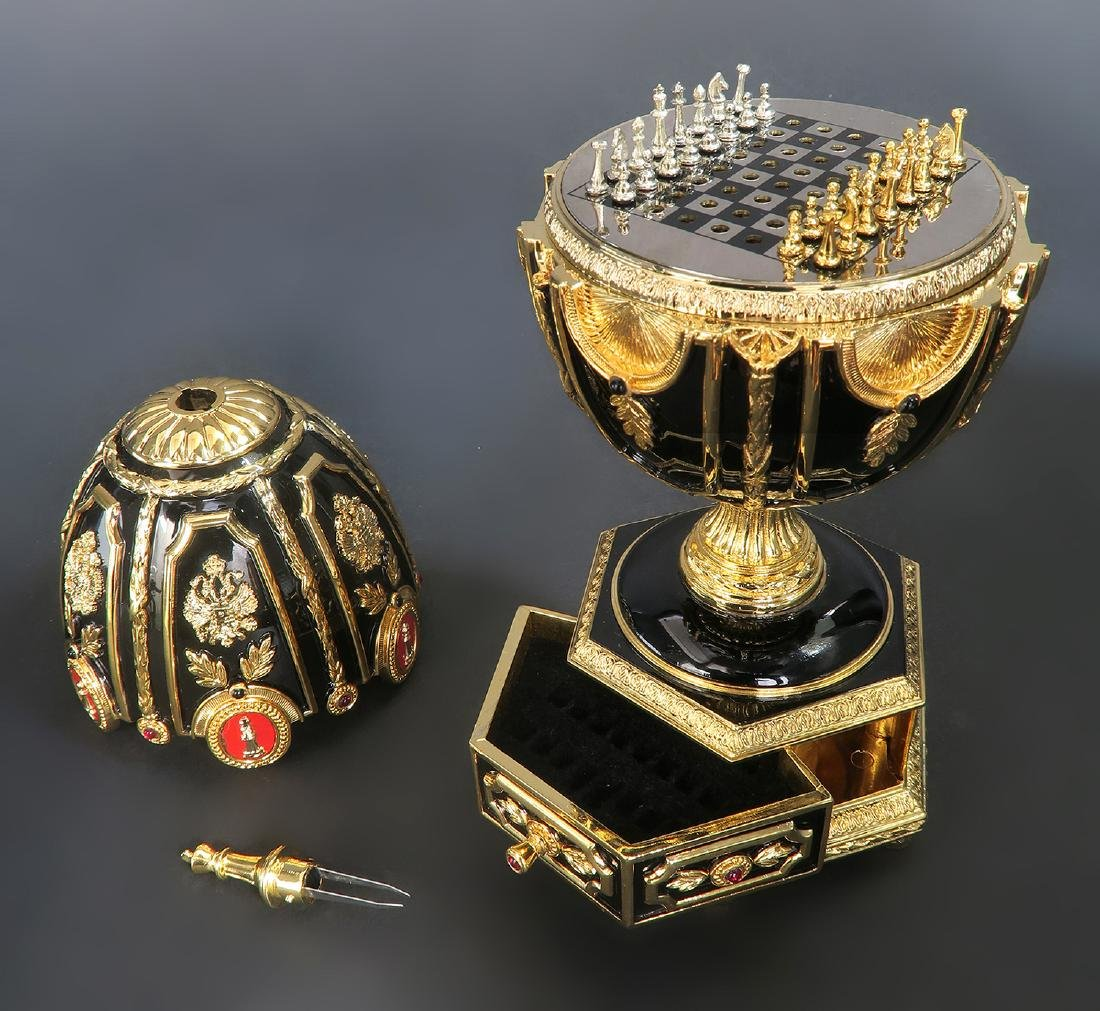 Faberge Imperial Jeweled Egg Chess set - 2