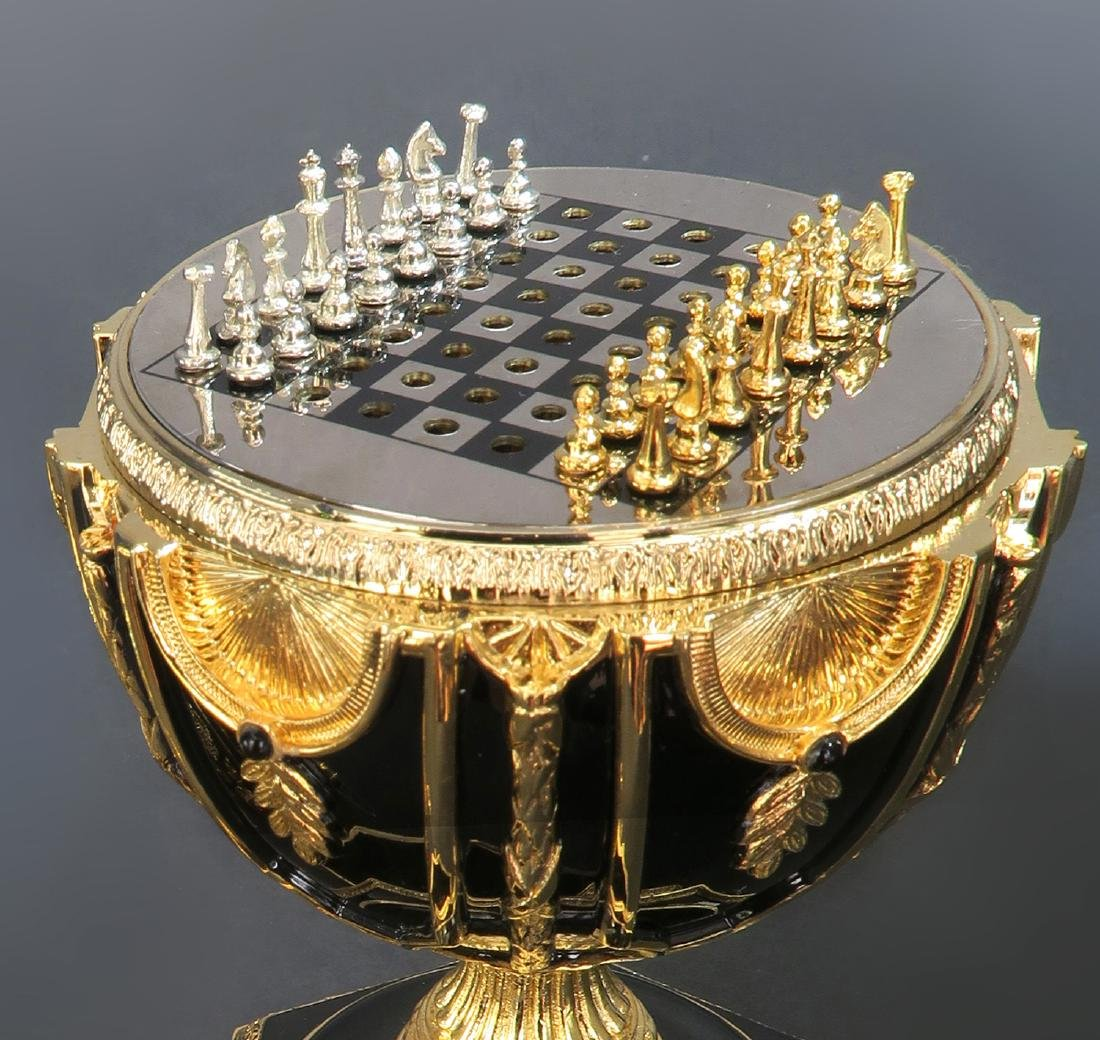 Faberge Imperial Jeweled Egg Chess set - 3