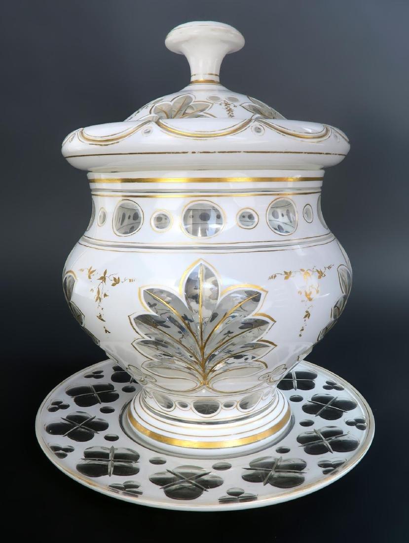 Large 19th C. Bohemian Crystal Tureen