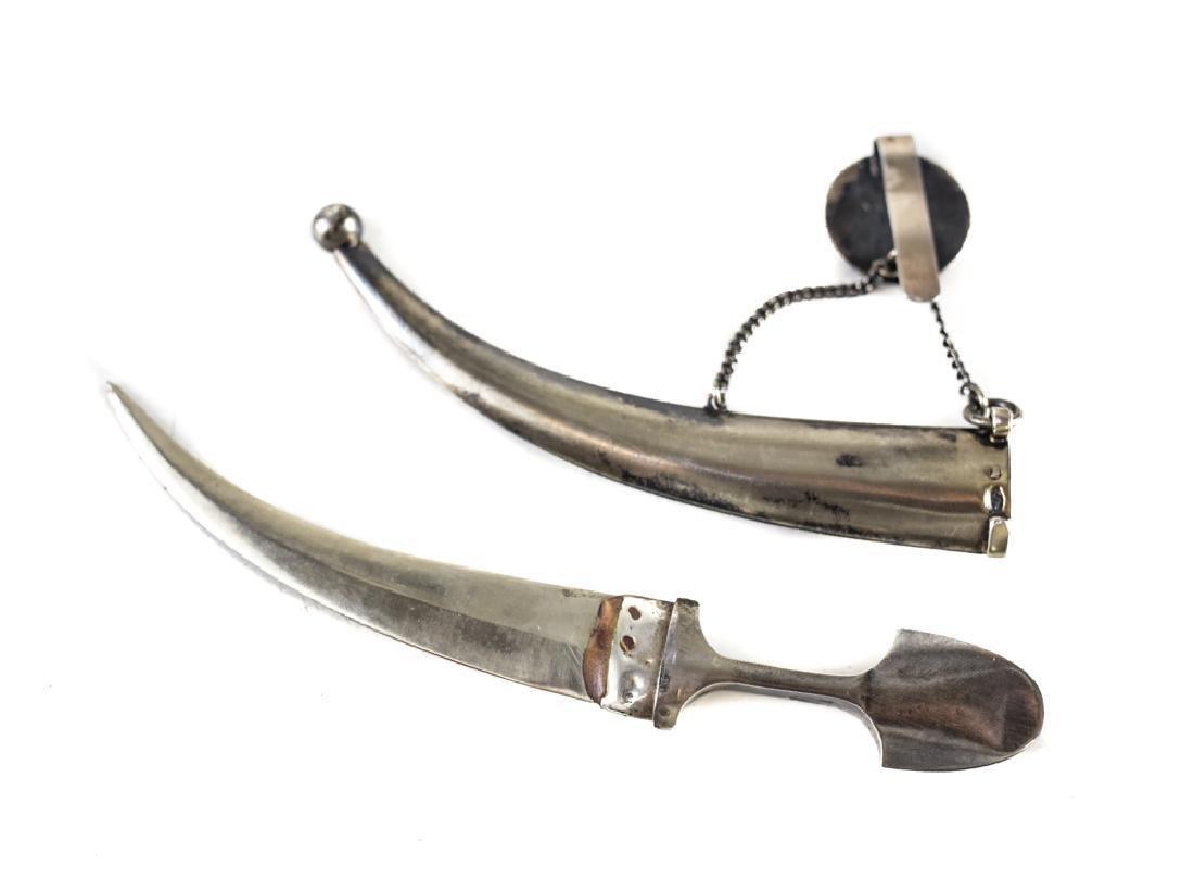 Russian 84 Silver & Enamel Dagger - 3