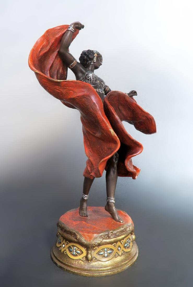 Magnificent Orientalist Cold Painted Bergman Bronze - 2