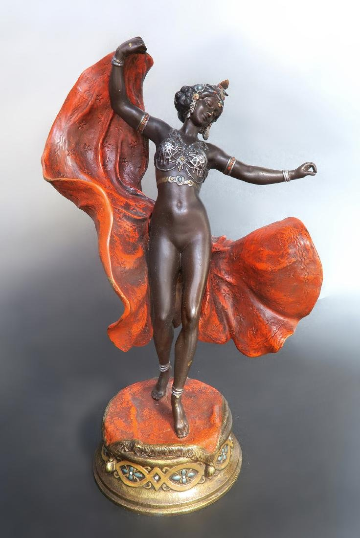 Magnificent Orientalist Cold Painted Bergman Bronze - 3