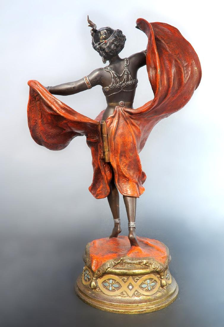 Magnificent Orientalist Cold Painted Bergman Bronze - 4