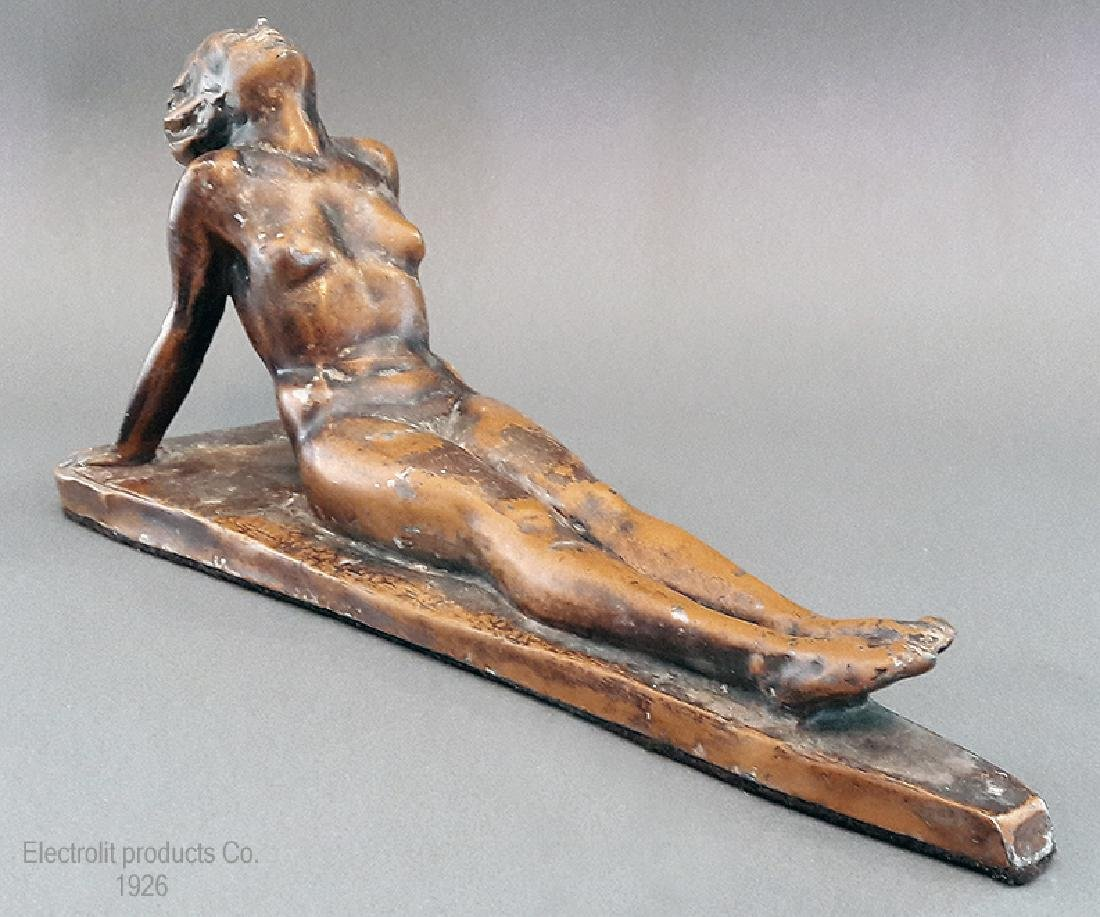 "1926 ""Lady Sunbathing"" Electrolit Products Co. Statue"