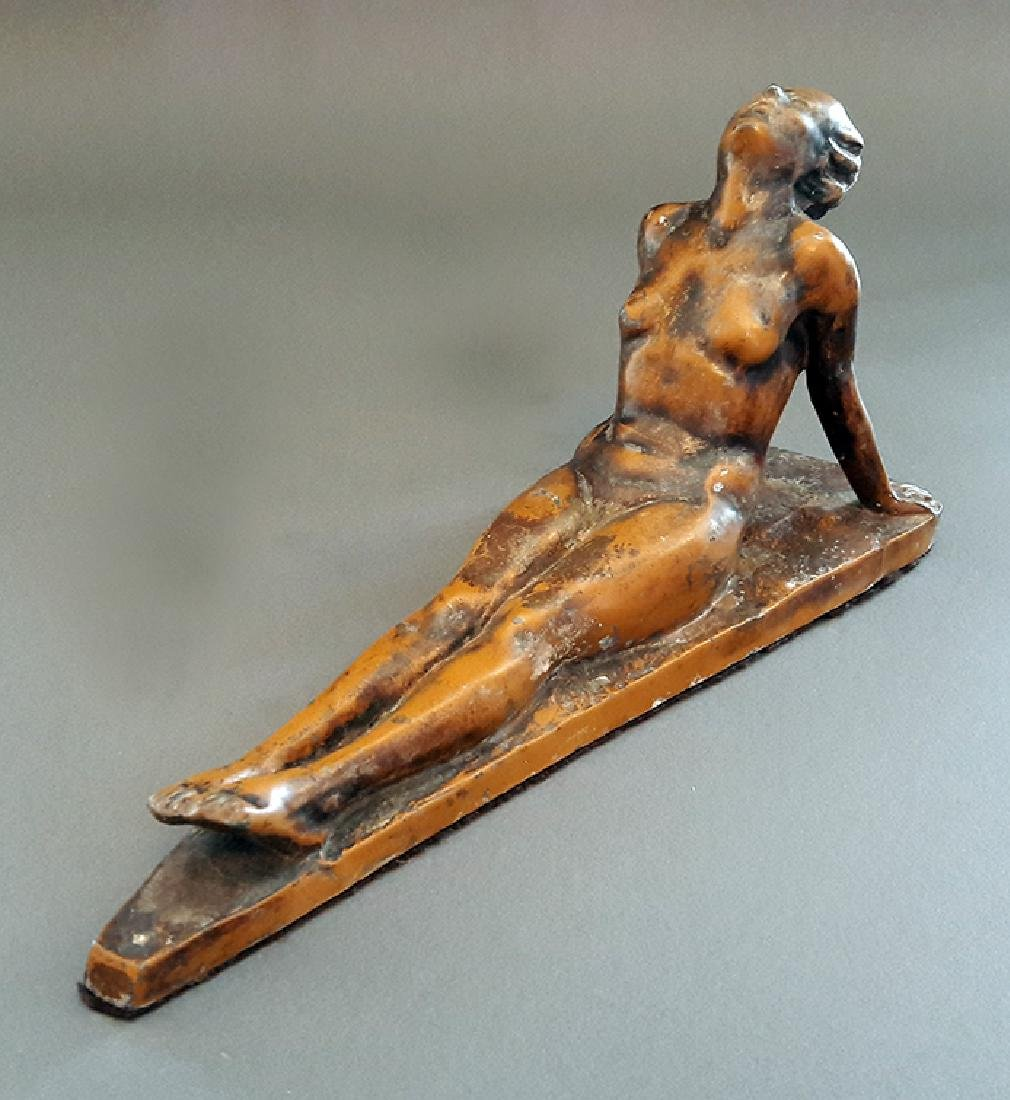 "1926 ""Lady Sunbathing"" Electrolit Products Co. Statue - 4"