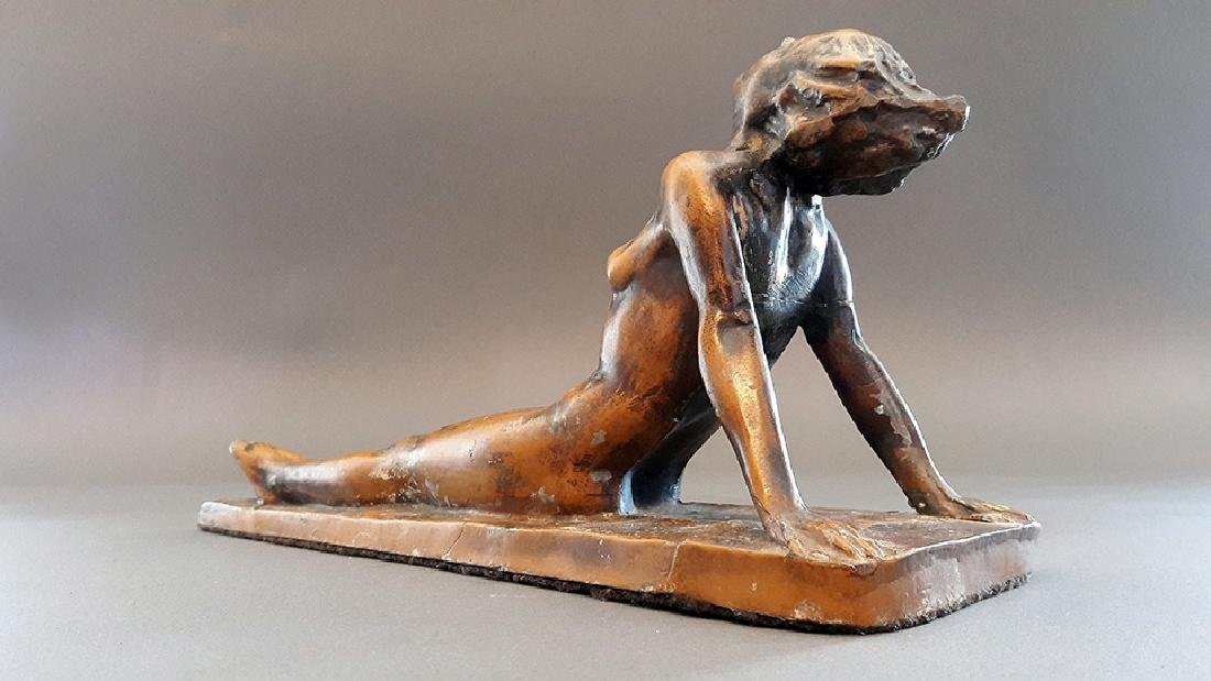"1926 ""Lady Sunbathing"" Electrolit Products Co. Statue - 5"