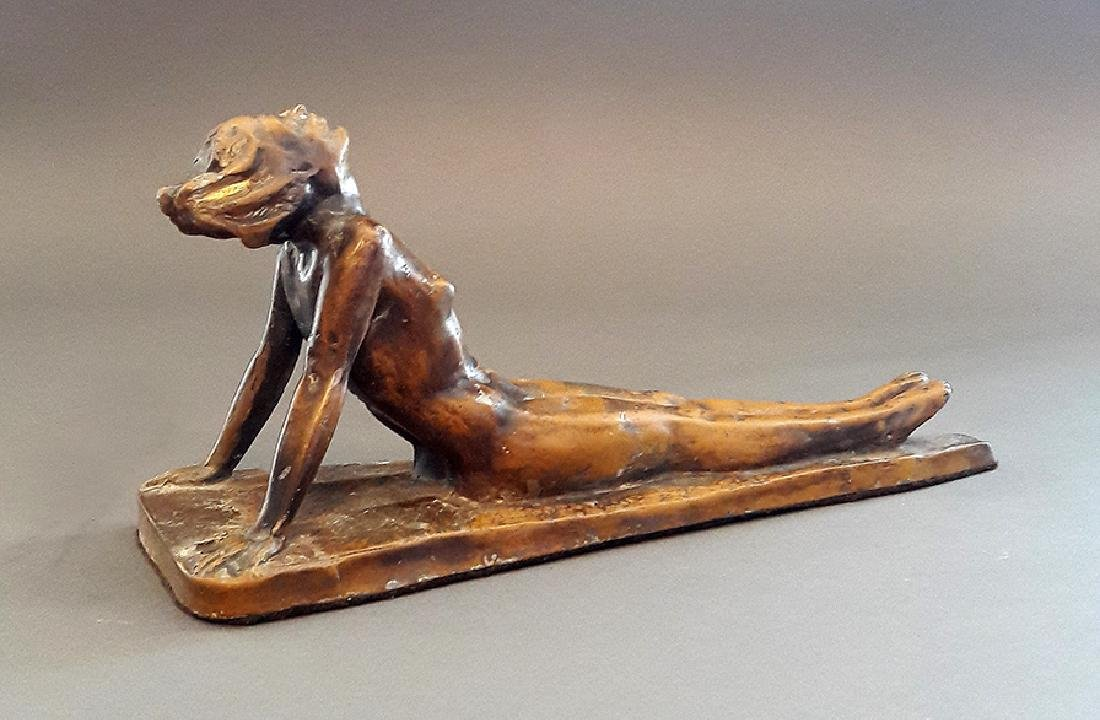 "1926 ""Lady Sunbathing"" Electrolit Products Co. Statue - 7"