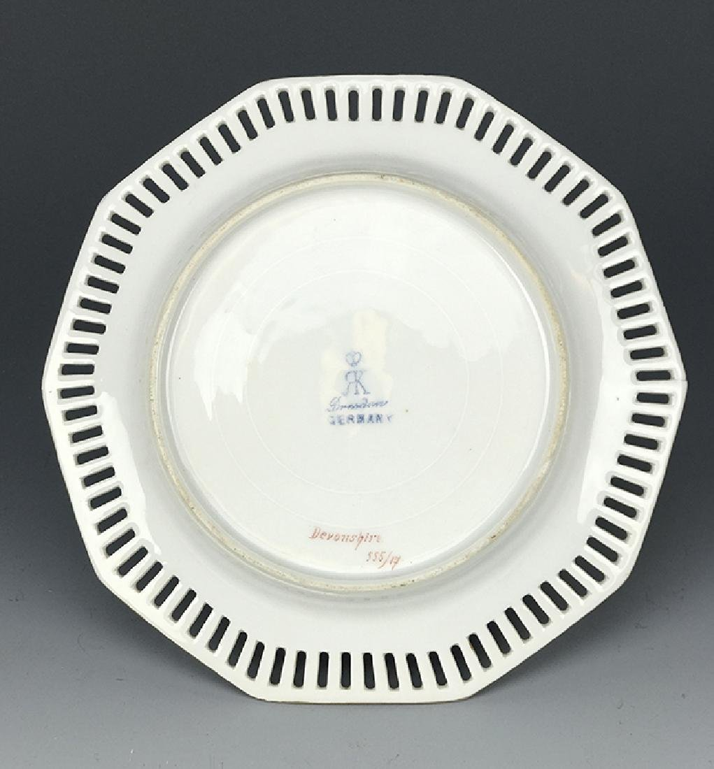 19th C. Dresden Hand Painted Plate - 2