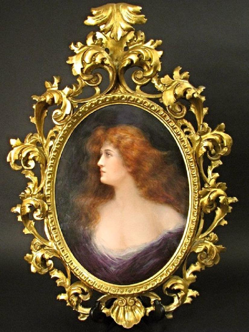 KPM Large Plaque Of Beauty Signed OREILLY