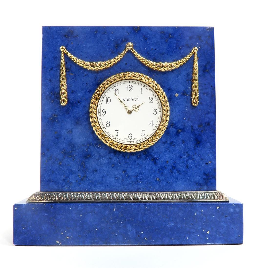Tatiana Faberge Lapis Desk Clock - 2