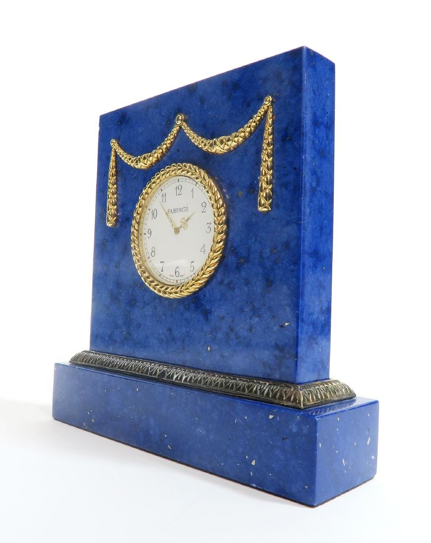 Tatiana Faberge Lapis Desk Clock - 3