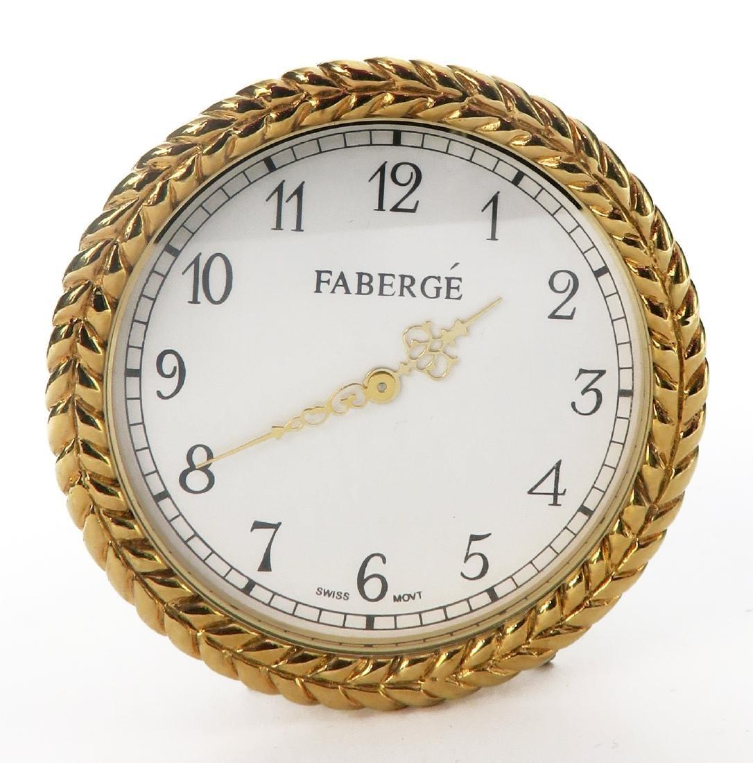 Tatiana Faberge Lapis Desk Clock - 5