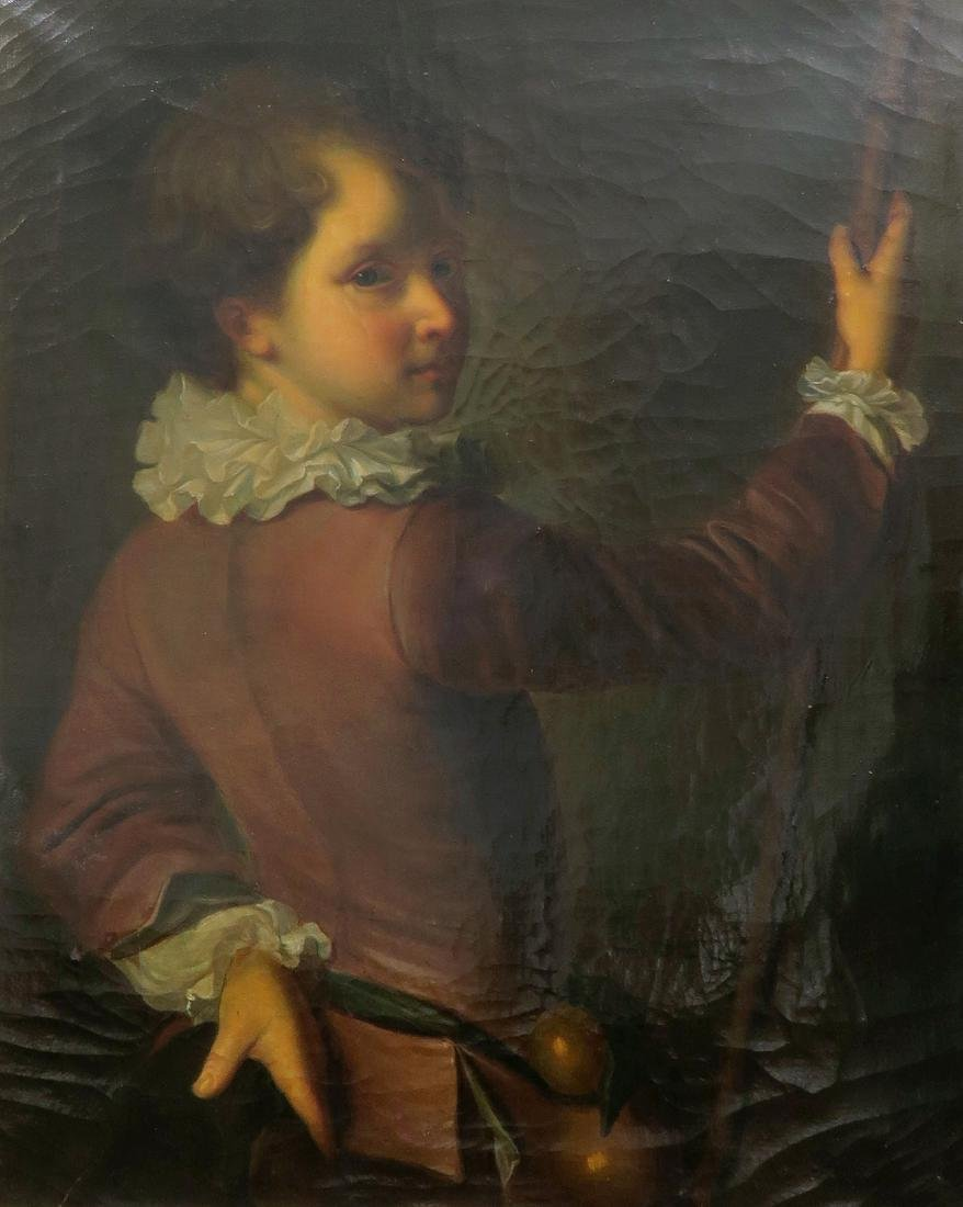 18th C. English Portrait of The Young Boy Oil Painting - 3