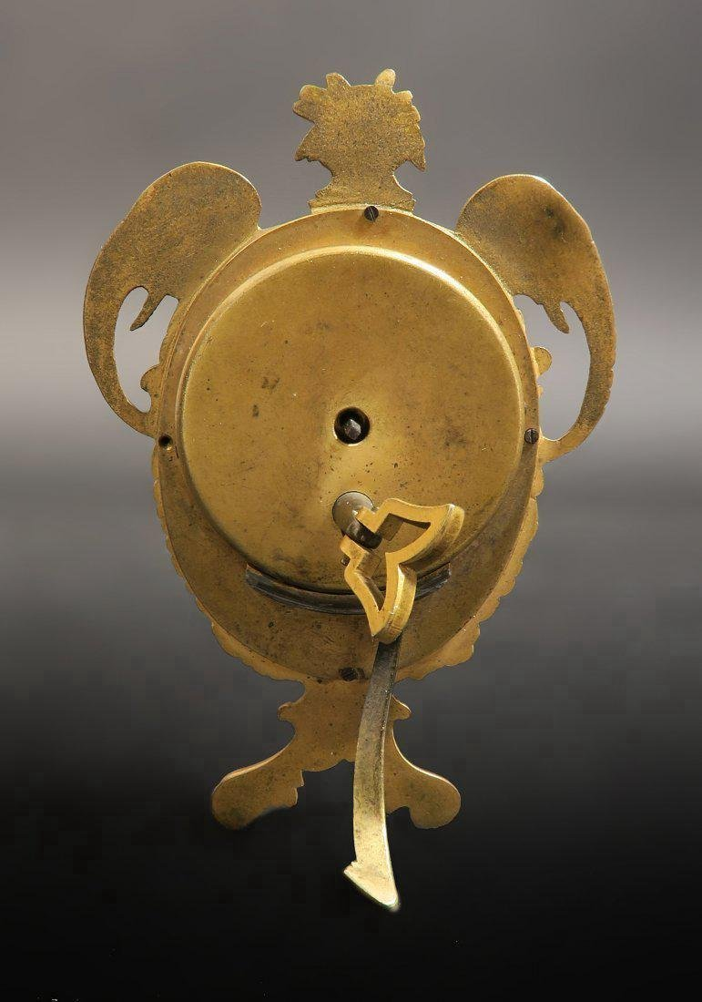 19th C. Viennese Enamel on Bronze Figural Clock - 2