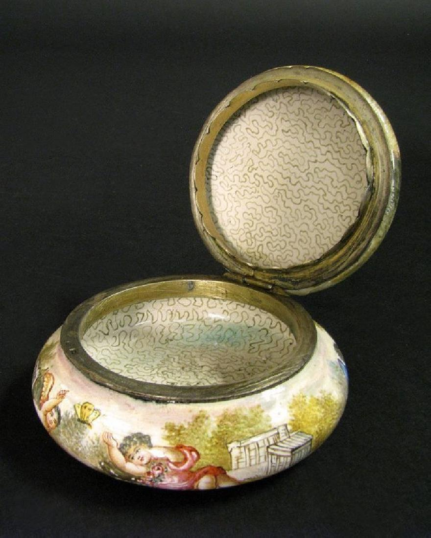 19th C. Viennese Enamel on Silver Miniature box - 3