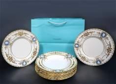 Minton for Tiffany Pate-sur-Pate Plates (8 Pcs)