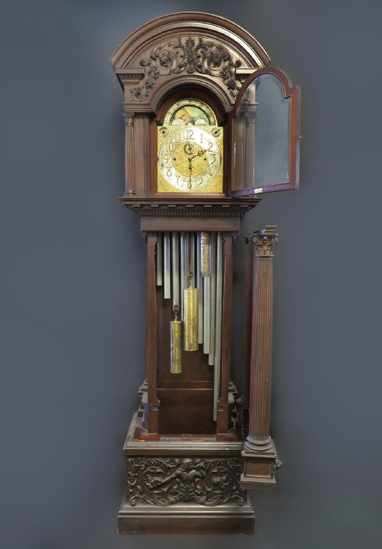 "Exceptional ""Tiffany & Co"" Grandfather Tall-Case Clock - 2"
