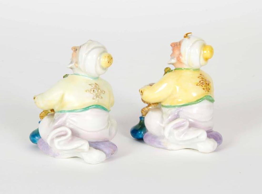 """A Pair of Turks Smoking Hookah """"Meissen"""" Figurines - 3"""