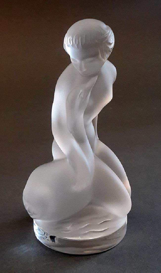 "LALIQUE ""Leda and The Swan"" Crystal Figurine, Signed! - 2"