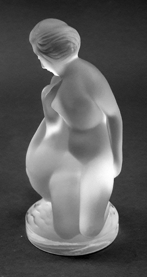 "LALIQUE ""Leda and The Swan"" Crystal Figurine, Signed! - 8"