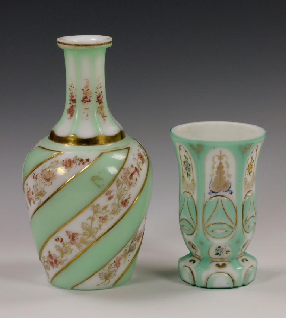 19th C. Bohemian Glass Decanter & Goblet