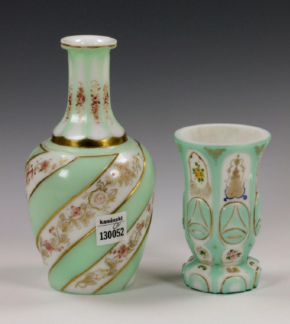 19th C. Bohemian Glass Decanter & Goblet - 2