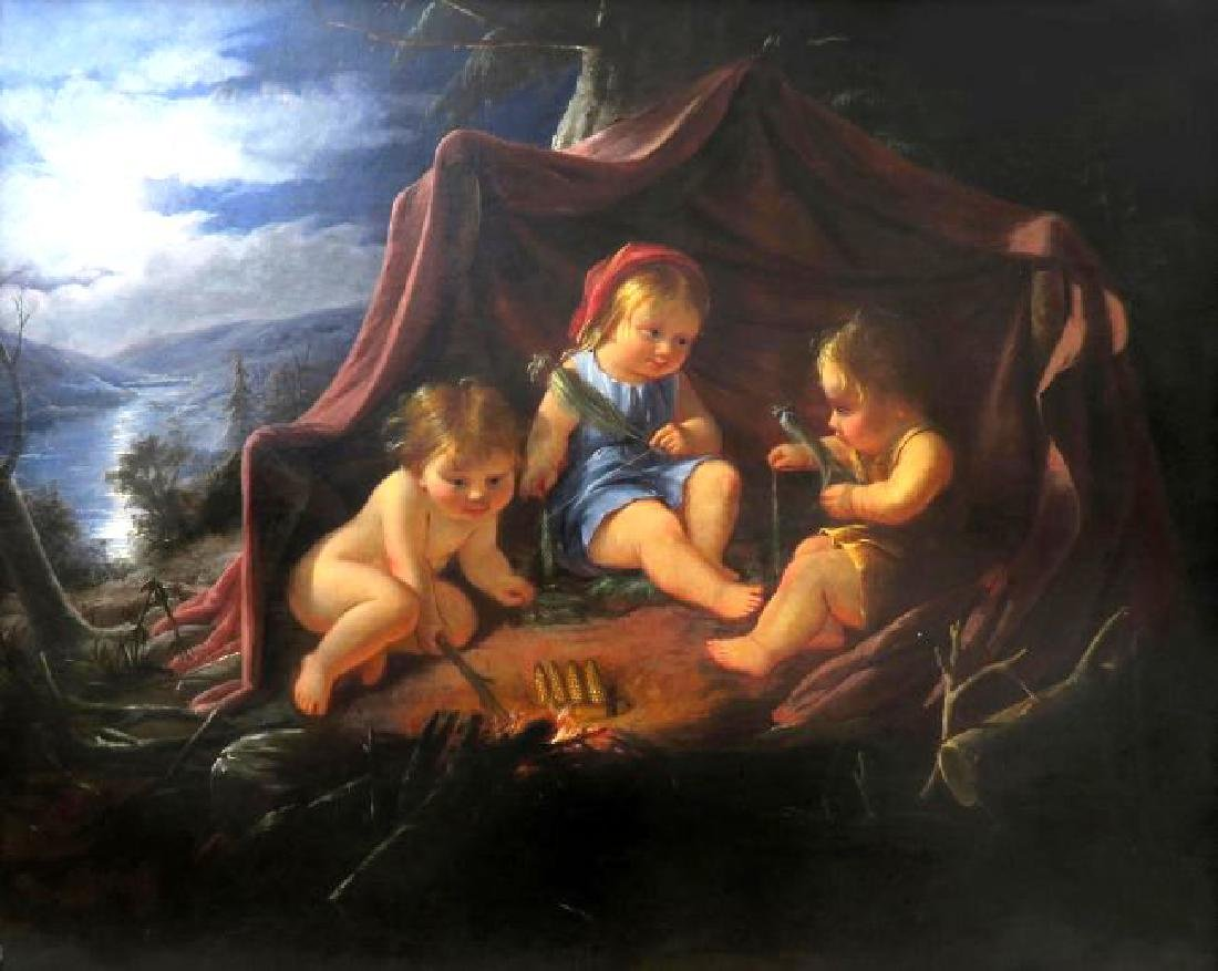 Large 18th C. Painting On Canvas by William Hamilton - 2