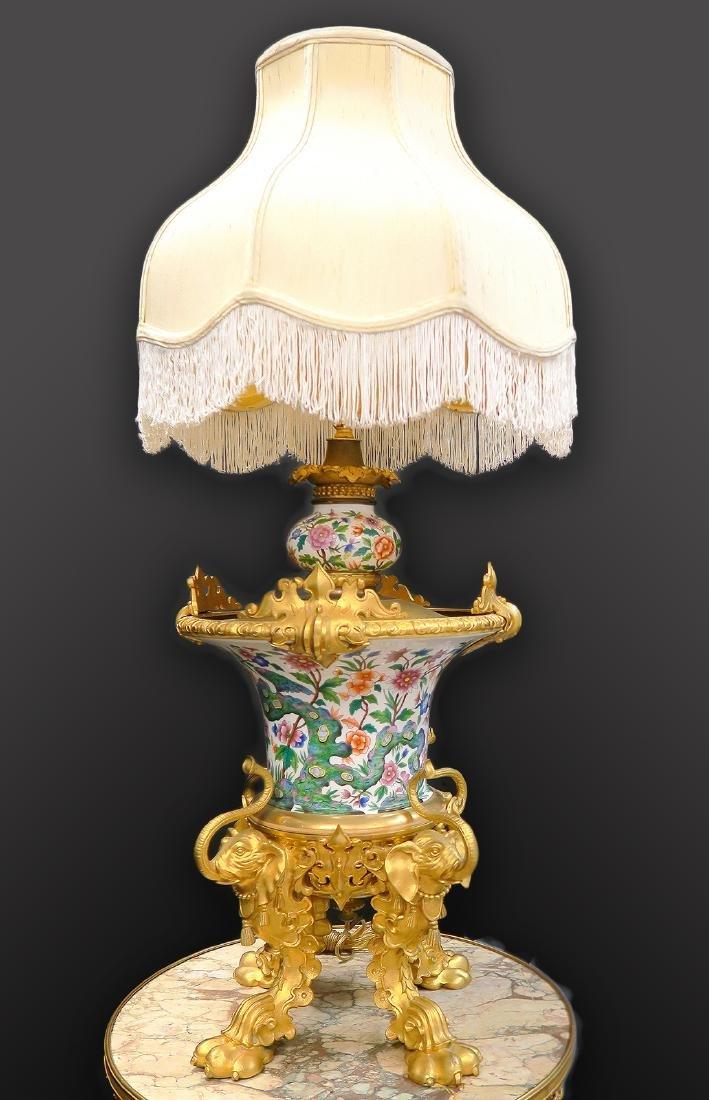Museum Quality French Chinoiserie Table Lamp