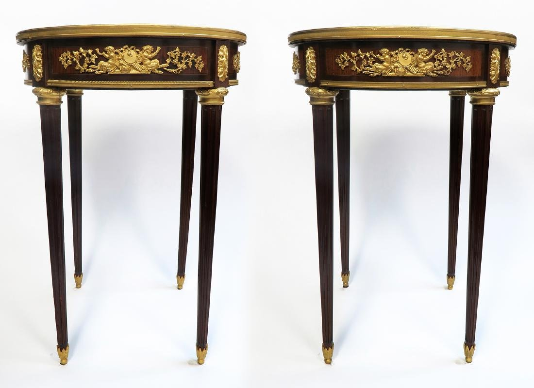 """Pair of Fine French """"Linke"""" Side Tables. Signed! - 2"""