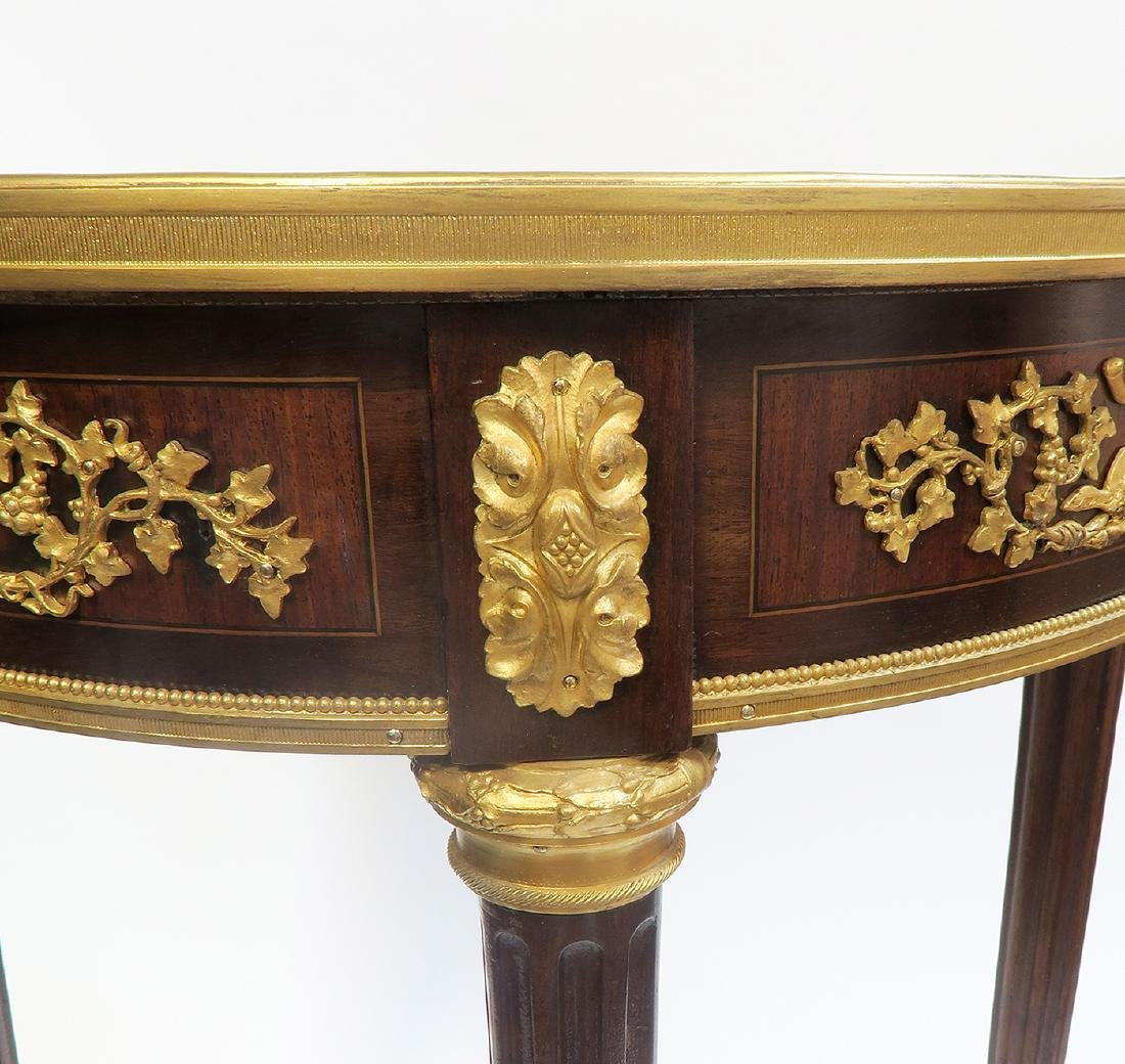 """Pair of Fine French """"Linke"""" Side Tables. Signed! - 5"""