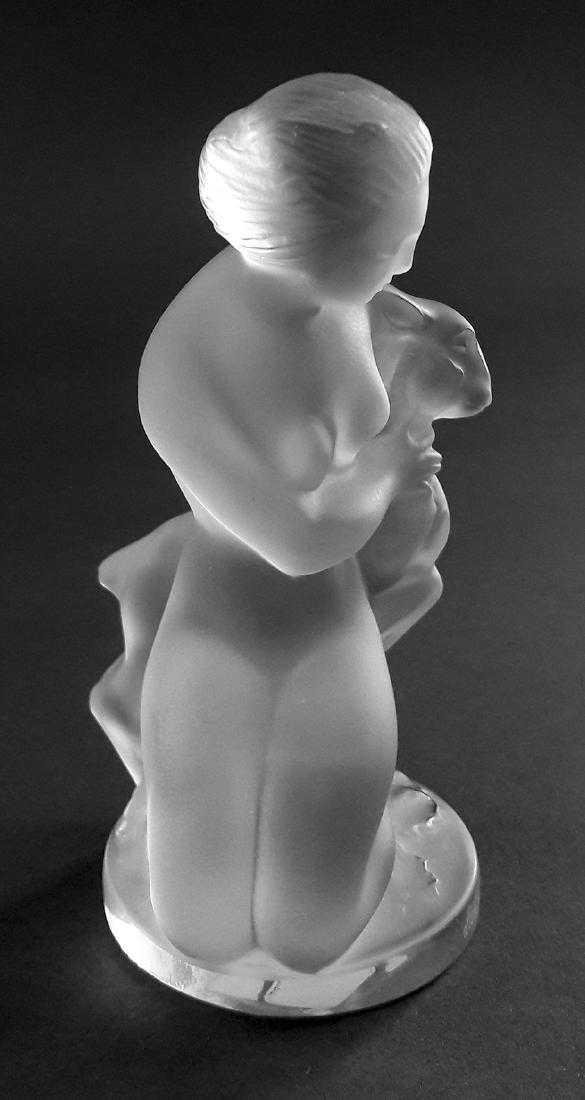 A LALIQUE Diana The Huntress & The Fawn Figurine Signed - 3