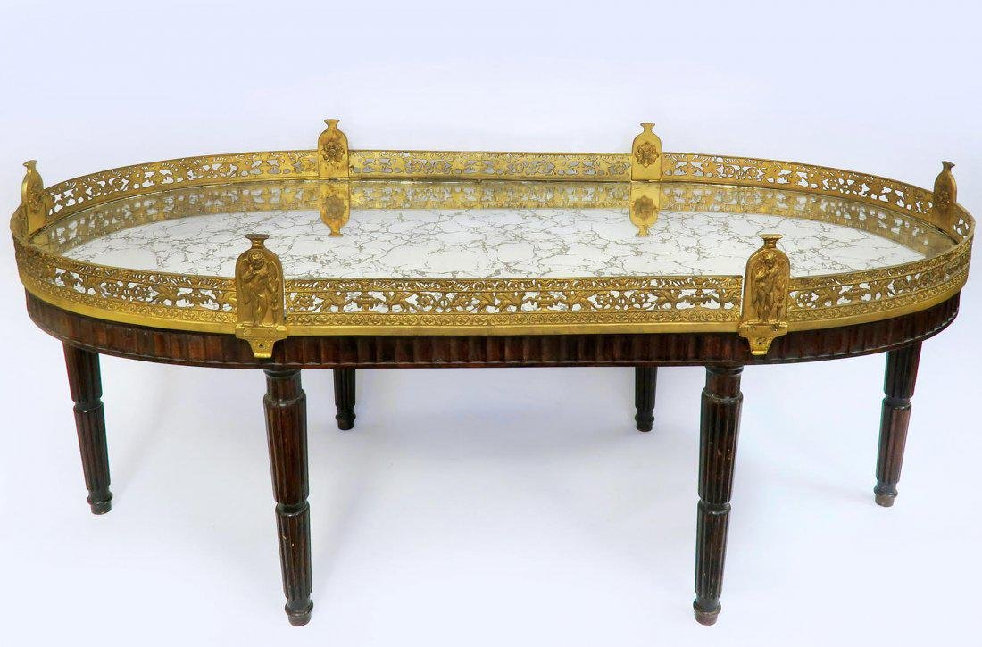 Large French Gilt Bronze Plateau Table