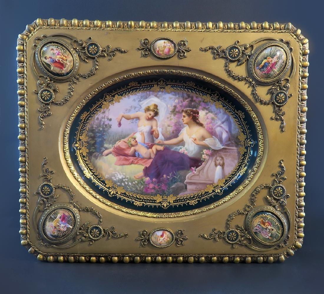 Royal Vienna Gilt wood & Porcelain Side Table - 4