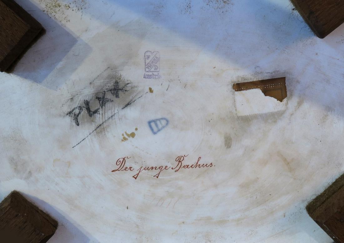Royal Vienna Gilt wood & Porcelain Side Table - 7