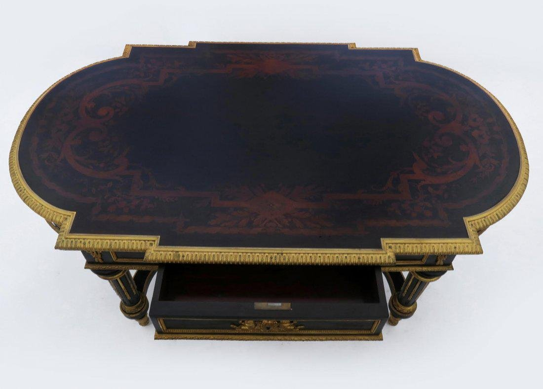 19th C. French Bronze Mounted Coffee Table - 3
