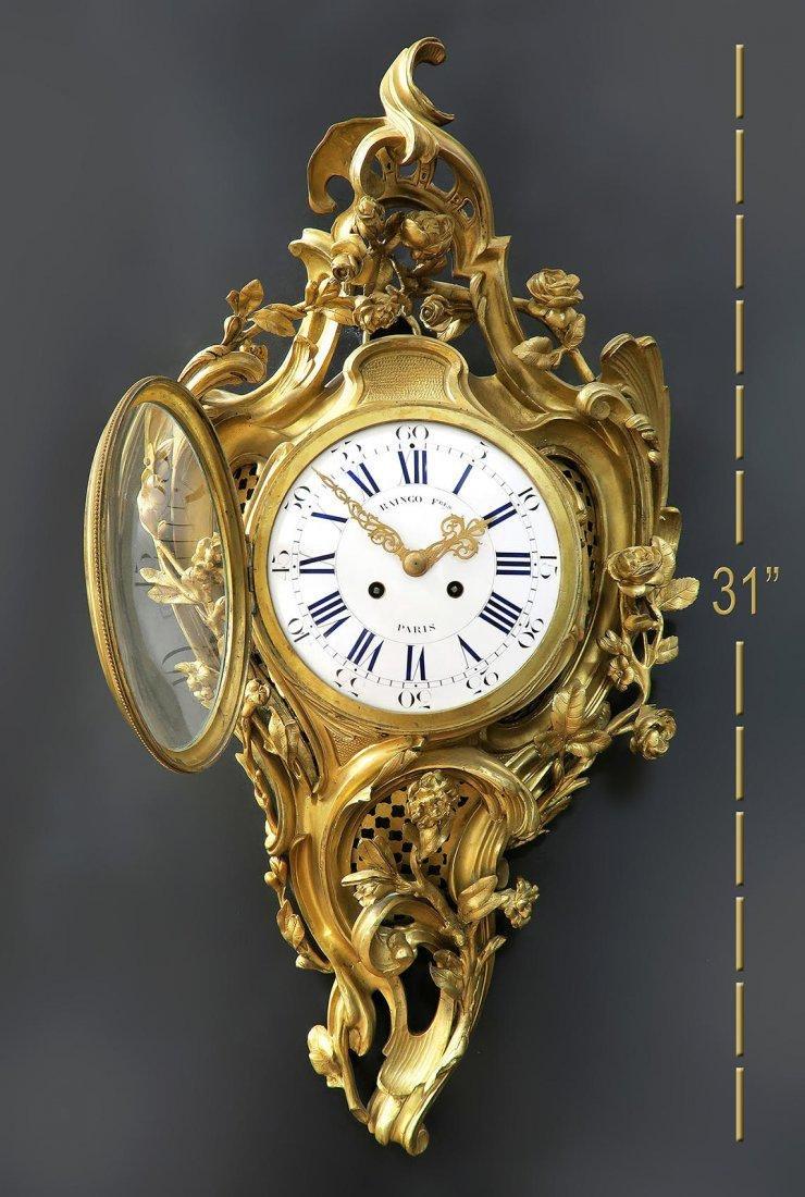 19th C French Cartel Clock & Scones by Raingo - 3