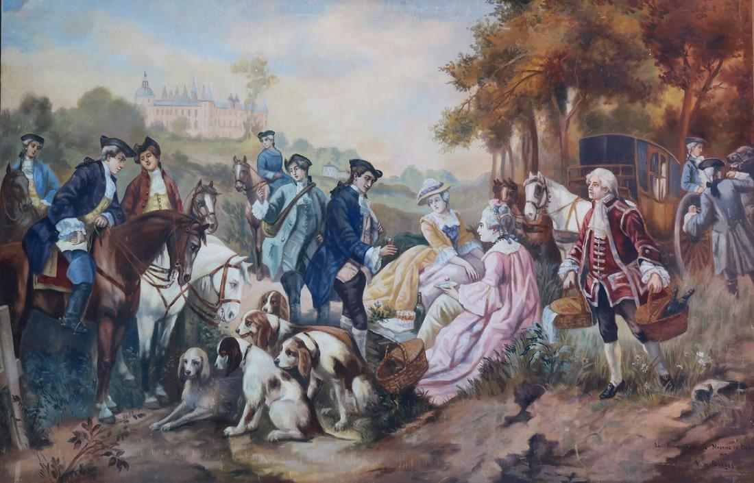 Monumental Garcia De Paredes Oil on Canvas - 2