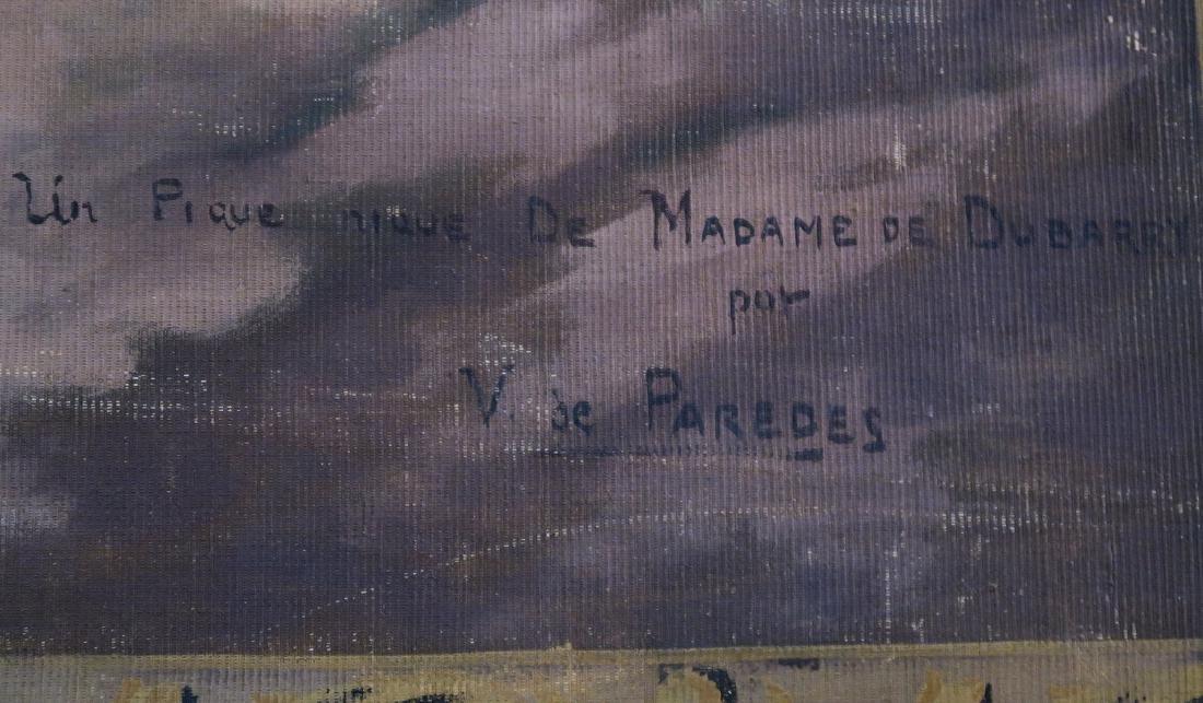 Monumental Garcia De Paredes Oil on Canvas - 3