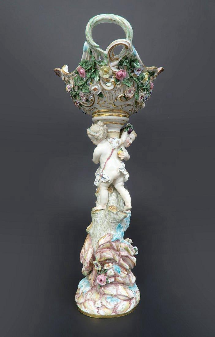 Meissen Porcelain Figural Centerpiece - 4